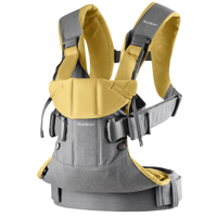 BABYBJÖRN - Baby Carrier ONE AIR, Grey/Yellow