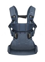 BABYBJORN Baby Carrier ONE, Classic denim/Midnight blue Cotton Mix