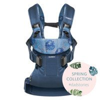 BABYBJORN Baby Carrier ONE, Leaf print/Midnight Blue