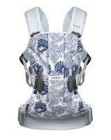 BABYBJORN Baby Carrier ONE, Leaf print/Pale Blue
