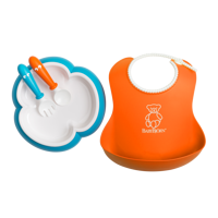 BABYBJORN - Baby Feeding Set - Orange / Blue