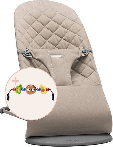 BABYBJORN - Bouncer Bliss - Sand grey + Toy