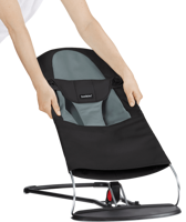 BABYBJORN - Fabric Seat for Baby Bouncer Black/Dark grey Cotton