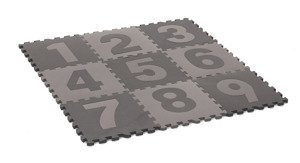 Baby Dan - Soft foam play mat, grey/numbers