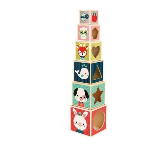 Janod - Pyramid wooden tower Baby Forest