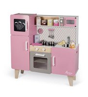Janod - XL wood kitchen with sound and 15 Macaron accessories
