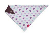 Lassig - Bandana with Silicone Teether Royal Heart girls
