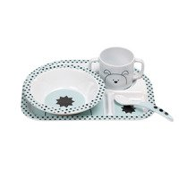 Lassig - Kids Dish Set with Silicone, Little Chums Dog