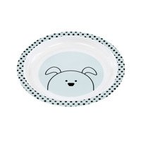 Lassig - Kids Plate with silicone, Little Chums Dog