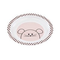 Lassig - Kids Plate with silicone, Little Chums Mouse