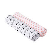Lassig - Muslin Swaddle & Burp Blanket XL, Little Chums Mouse