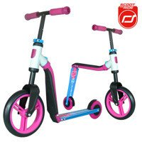 Scootandride - Highwaybuddy 2in1 scooter + bike 3+ Pink
