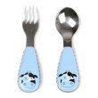 Skip Hop - Little kid fork & spoon Cow