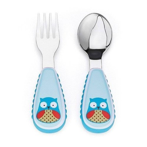 Skip Hop - Little kid fork & spoon Owl