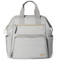 Skip Hop - Mainframe Wide Open Diaper Backpack, Cement