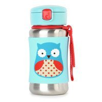 Skip Hop - ZOO stainless steel kid straw bottle