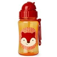 Skip Hop - ZOO stainless steel kid straw bottle Fox