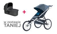 THULE Glide Dark Shadow + bassinet