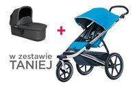 THULE Urban Glide Blue + bassinet