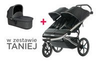 THULE Urban Glide Dark Shadow 2 + bassinet