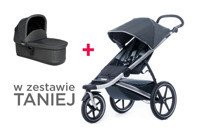 THULE Urban Glide Dark Shadow + bassinet