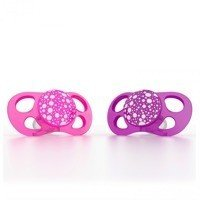 Twistshake - 2x Pacifier Large (6+m) Pink/Purple