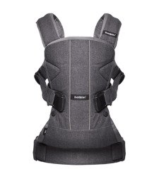 BABYBJÖRN Baby Carrier ONE, Denim grey Cotton Mix