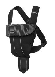BABYBJORN - Baby Carrier ORIGINAL, black / pinstripe