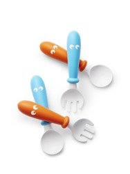 BABYBJÖRN - Baby Spoons and forks - Orange/Turquoise