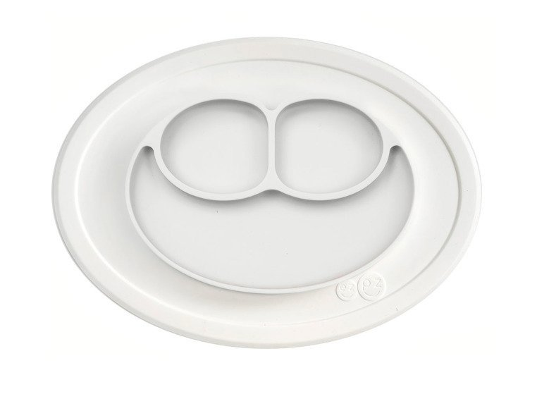 EZPZ - Silicone plate with washer small 2in1 Mini Mat, white