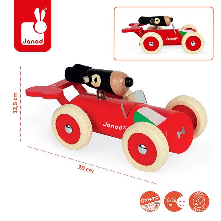 Janod - Wooden car in retro style Spirit Marco