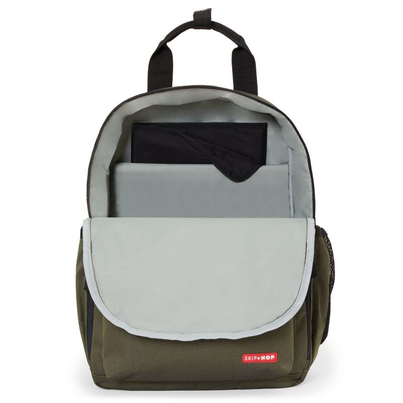 Skip Hop - Duo Backpack - Olive Grid
