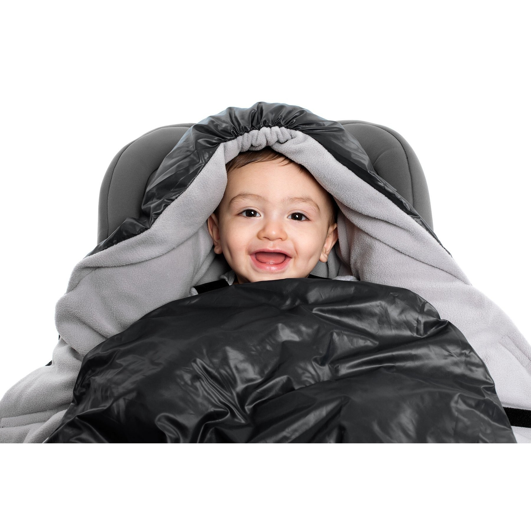 7AM -  Sleeping bag for car seat and strollers NIDO Black L