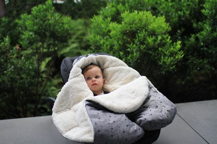 7AM -  Sleeping bag for car seat and strollers NIDO Cloud Heather Grey S