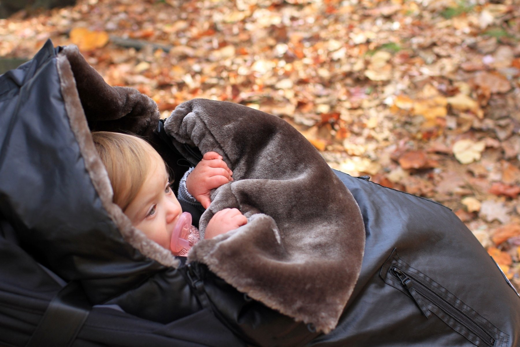 7AM -  Sleeping bag for car seat and strollers WaxedPOD M/L Waxed Forest