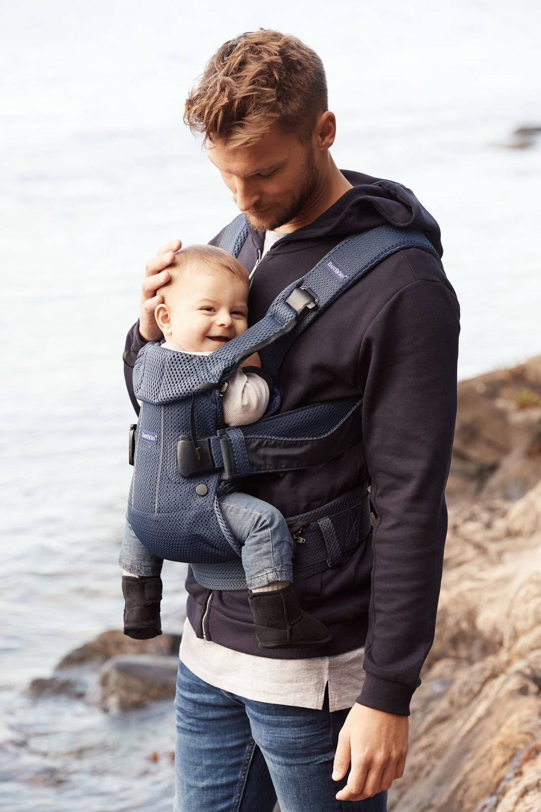 BABYBJÖRN - Baby Carrier ONE AIR, Navy Blue