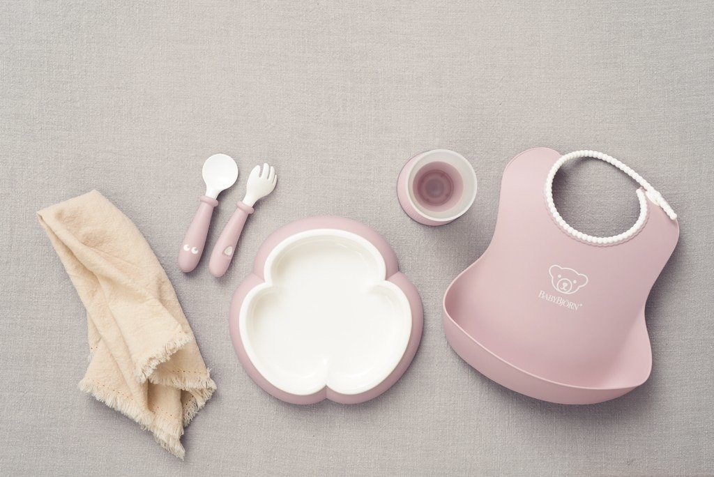 BABYBJORN - Baby Dinner Set - Powder Pink