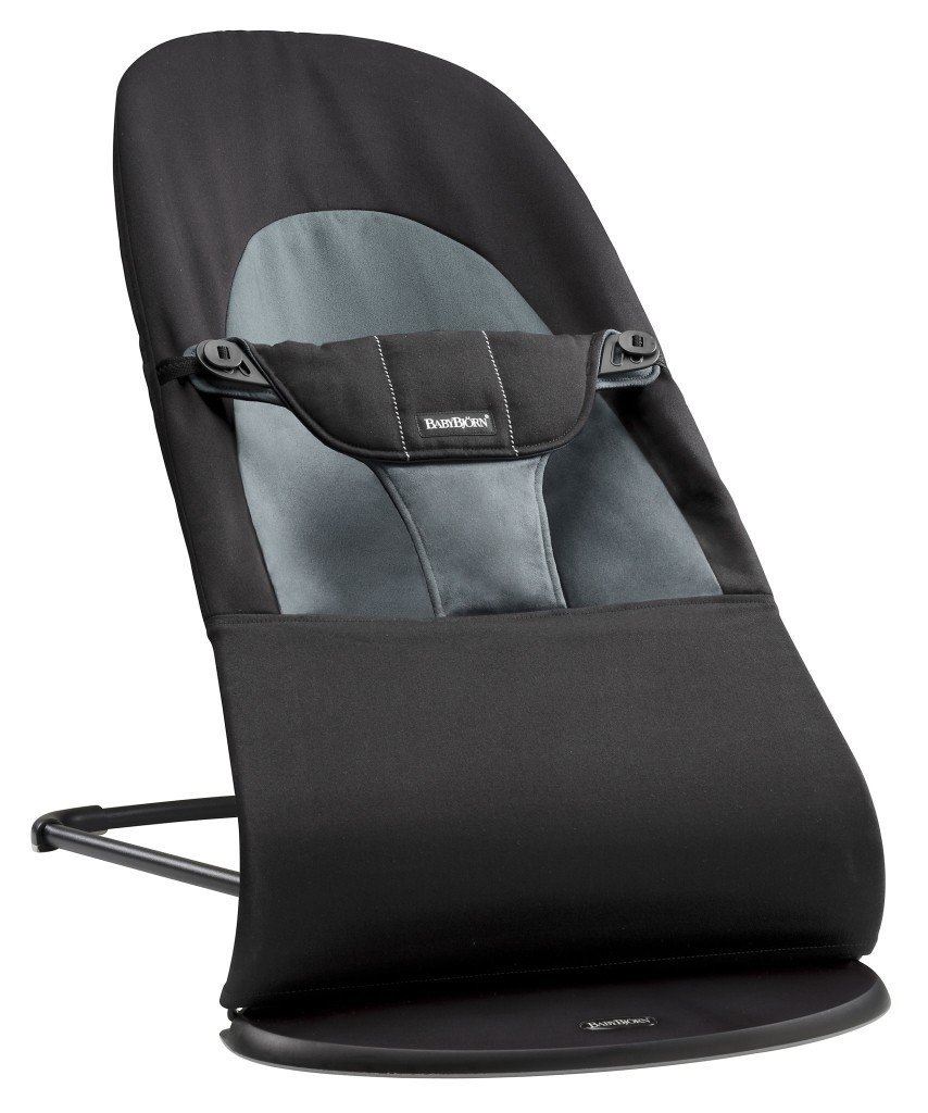 BABYBJÖRN - Bouncer Balance Soft - Black / Dark grey + toy