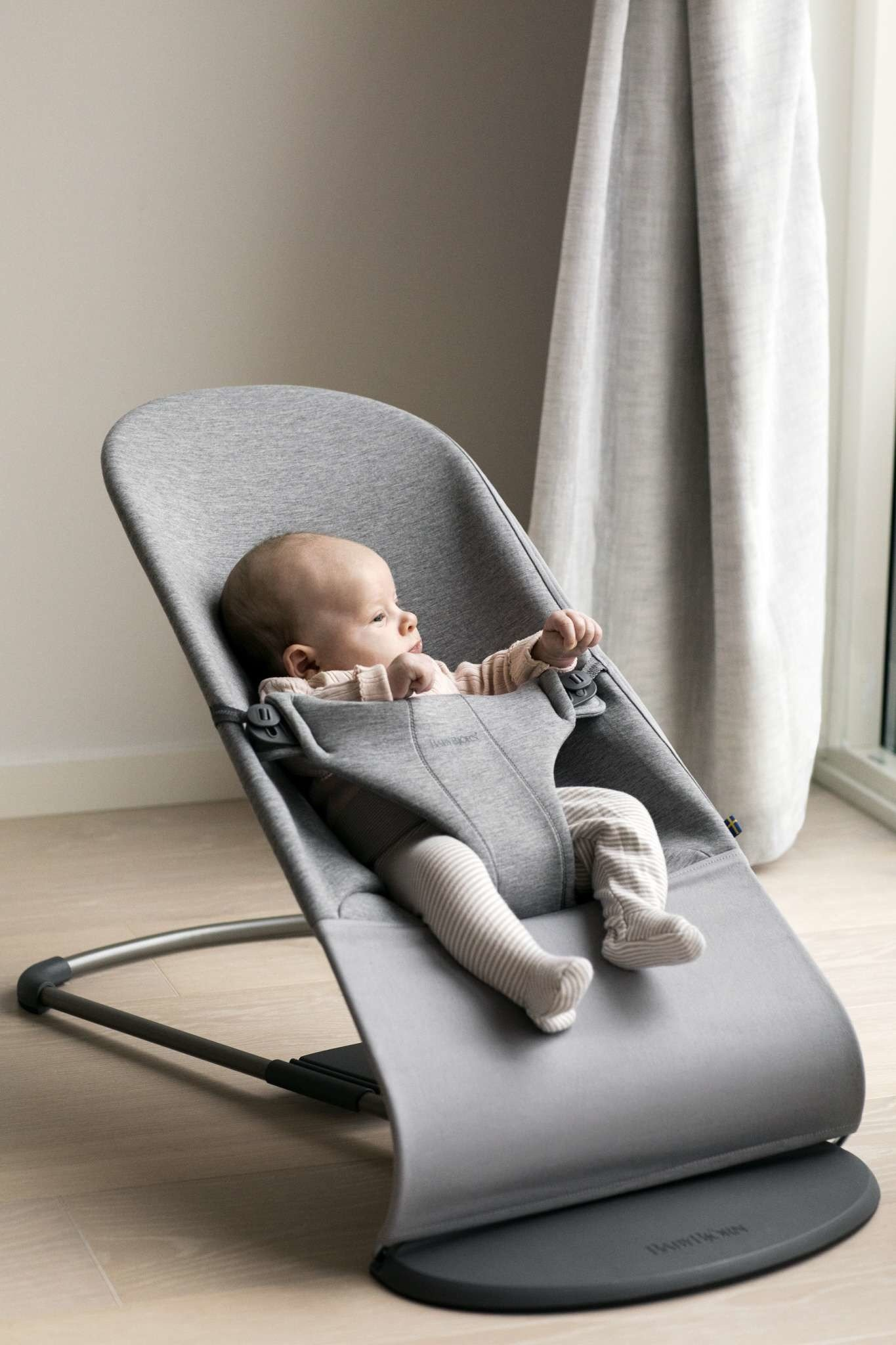 BABYBJÖRN - Bouncer Bliss - Light grey, 3D Jersey