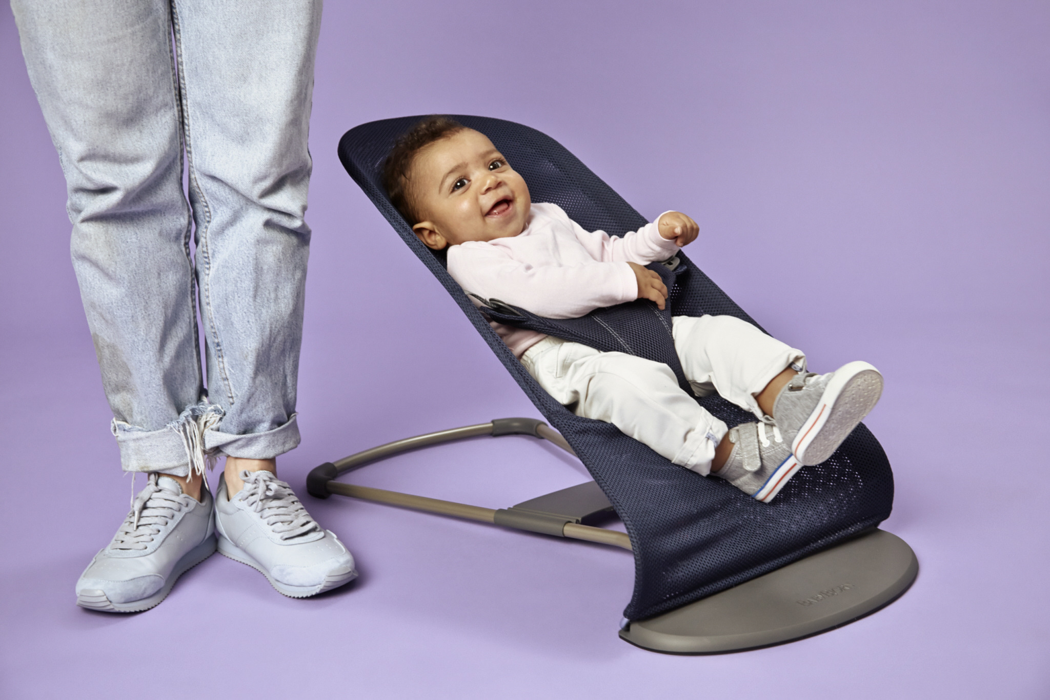 BABYBJÖRN - Bouncer Bliss MESH - Navy Blue