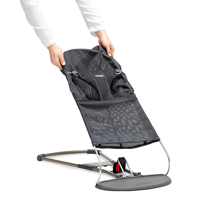 BABYBJÖRN - Fabric Seat for Baby Bouncer Balance Bliss Antracyt, Mesh