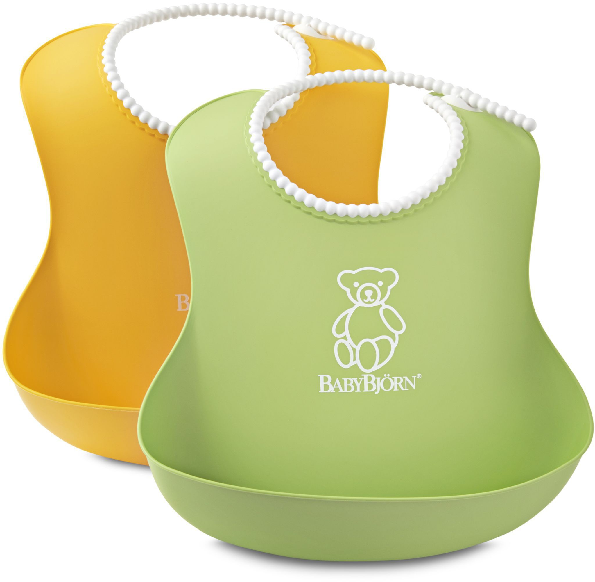 BABYBJÖRN - Soft Bibs - Yellow / Green