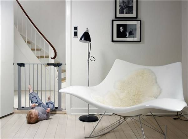 Baby Dan - Premier Safety Gate, silver