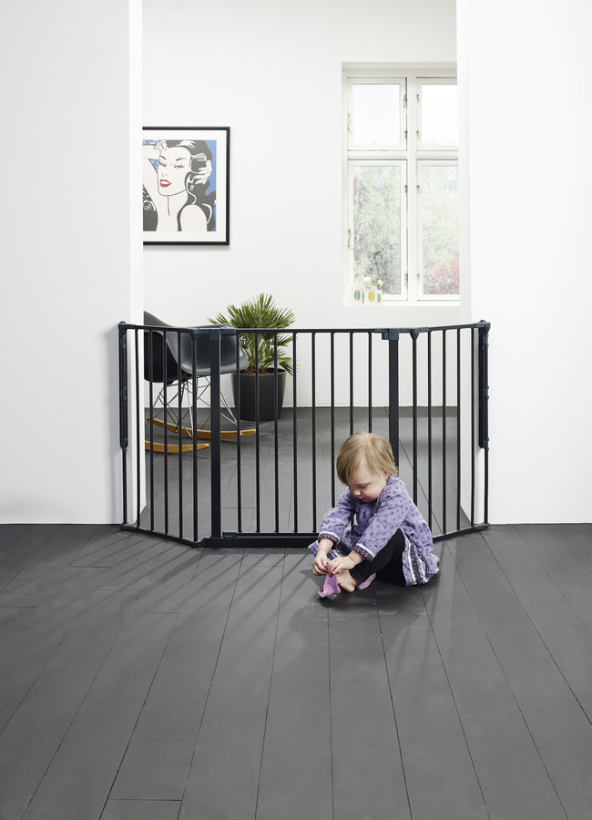 Baby Dan - Safety gate FLEX M, black