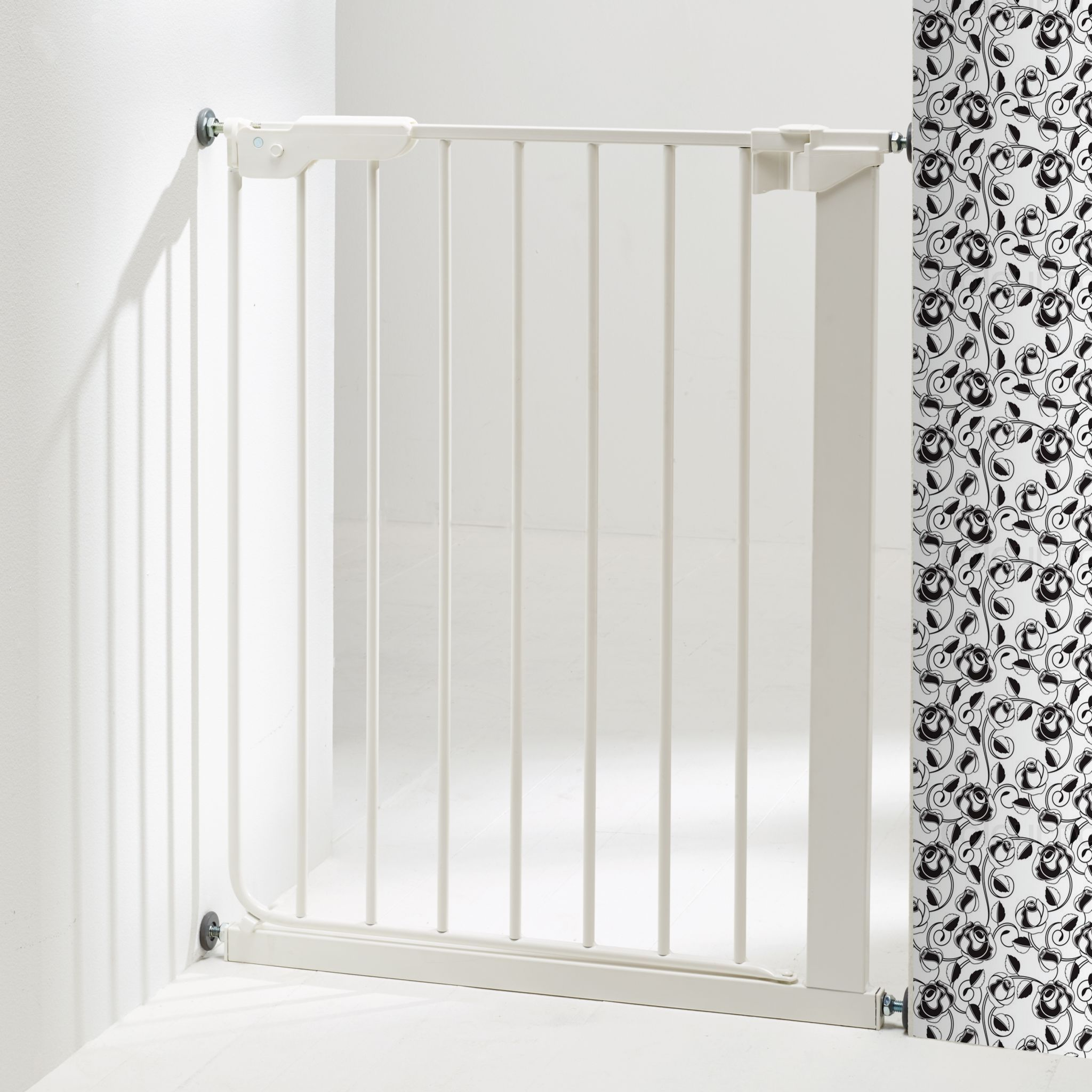 Baby Dan - SlimFit Gate with 1 extensions, white