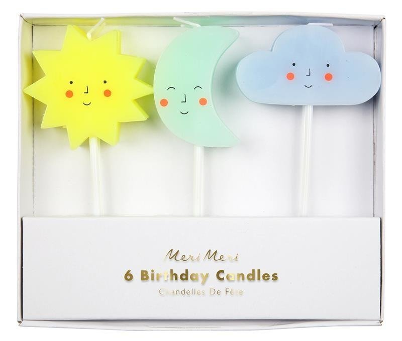 Candles Sun Moon Cloud Pk/6