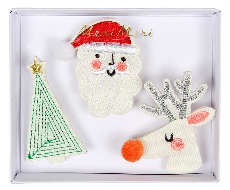Christmas Embroidered Brooches