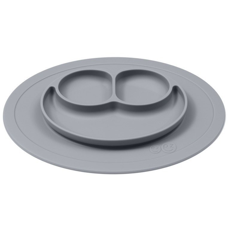 EZPZ - Silicone plate with washer small 2in1 Mini Mat gray