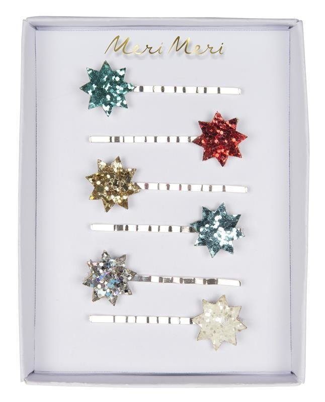 Glitter Star Hair Slides