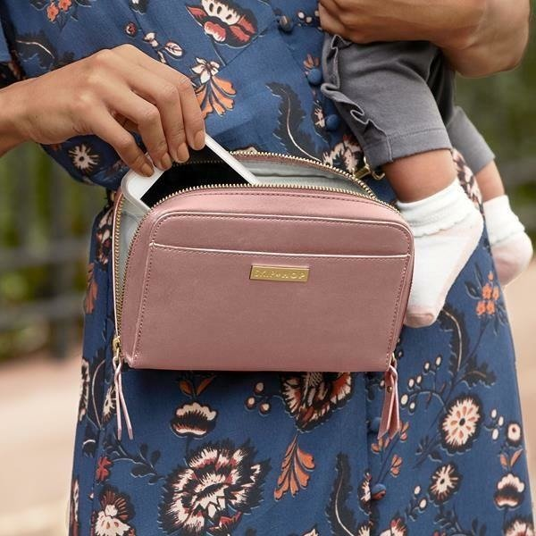 Greenwich Convertible Hip Pack- Dusty Rose